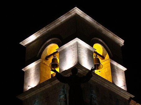 Bells, Tower, Bell Tower, Historic Center, Ring, Church