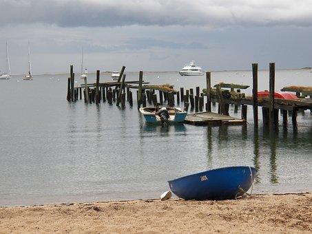 Cape, Cape Cod, Coast, Ocean, Boat, Pier, Beach, Clouds