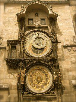 Prague, Czech Republic, Clock, Atomic, Czech, Europe