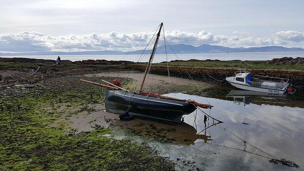 West Coast Scotland, Scotland, Portencross, Coast, Sea