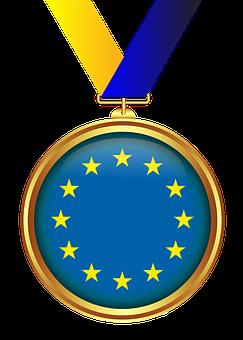 Medal, Gold, Tape, Transparent Background, Decoration