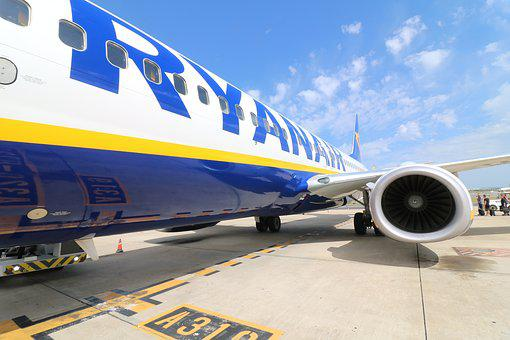 Aircraft, Ryanair, Airport, Departure, Aviation, Jet