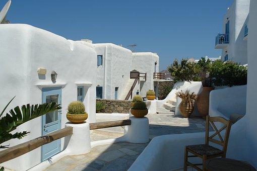 Mykonos, Greece, Accomodation, Aegean, Island, Europe