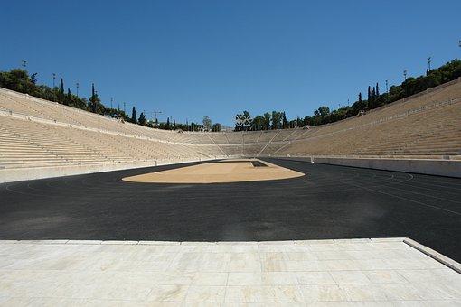 Greece, Olympic, Old, Field, Design, Torch, Greek