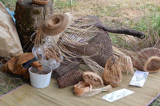 Baskets, Weaving, Homemade, Handmade, Woven, Natural