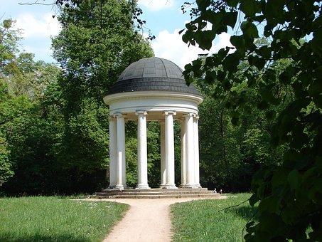 Temple, About, Ionic Temple, Garden, Park