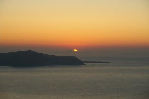 Santorini, Sunset, Greece, Greek, Travel, Island, Sky