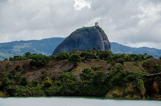 Colombia, Guatape, Lake, Reservoir, Islands, Tourism