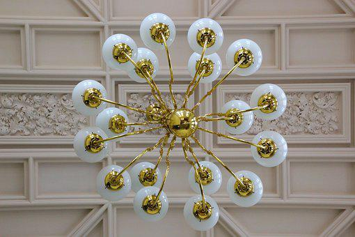 Chandelier, Lights, Interior, Design, Ceiling, Glass