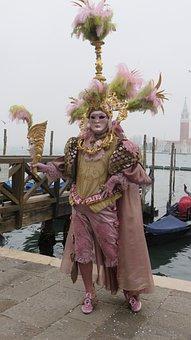 Venice, Carnival, Mask, Costume, Italy, Masquerade