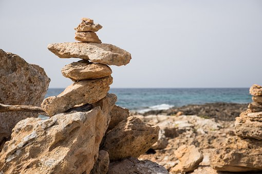 Stone Tower, Sea, Stones, Meditation, Beach, Balance