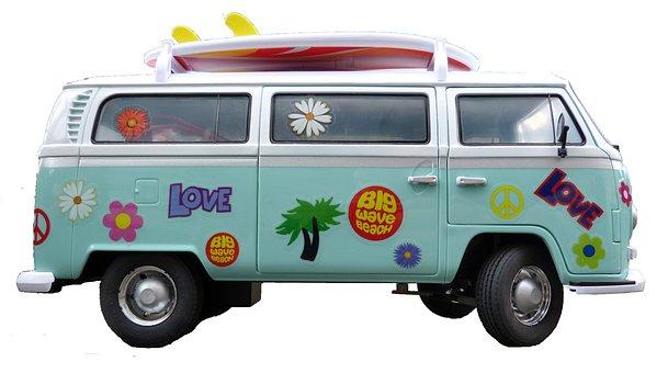 Vw Bus, Cult, Model Car, Classic