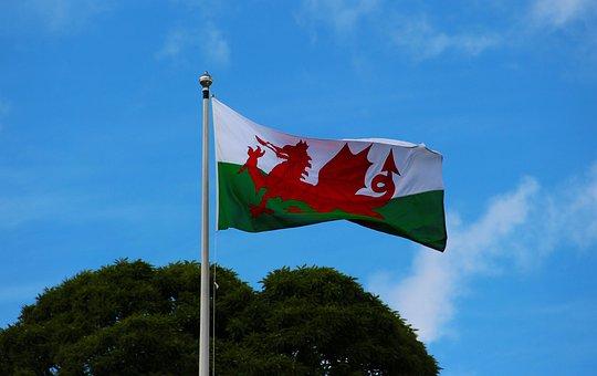 Welsh Flag, Pennant, Welsh, Wales, Flag, Banner, Nation