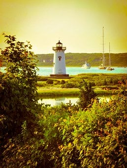 Vintage, Lighthouse, Sea, Nautical, Ocean, Travel