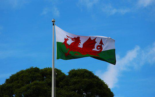 Welsh Flag, Pennant, Welsh, Wales, Flag, Banner, Nation