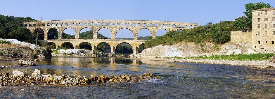 Pont Du Gard, Bridge, France, Roman, Ancient