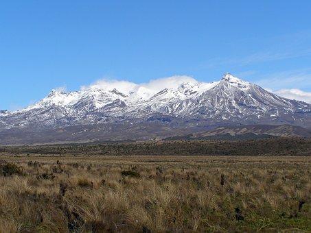 Mount, Ruapehu, New Zealand, Tongariro, National, Park
