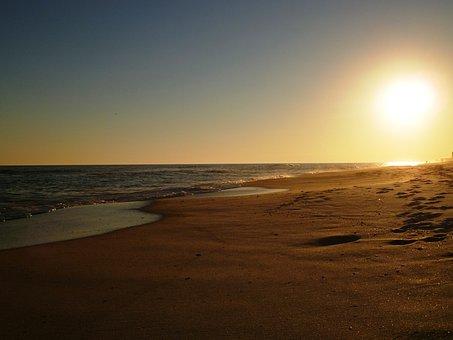 Beach, Sunset, Pensacola, Sunset Beach, Ocean, Sea