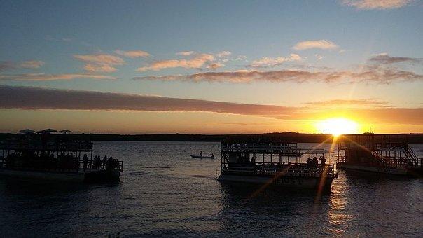 Boat, Sunset, Horizon, Nature, Travel, Holidays