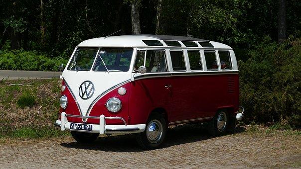 Vw Bus, Bus, 1967, Vintage, Hippie, Camper, Transporter