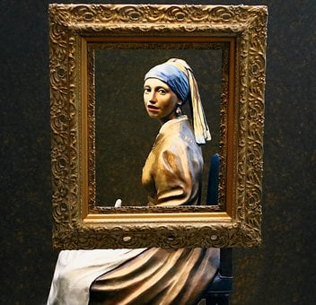 Sculpture, Statue, Vermeer, Girl With Pearl Earing