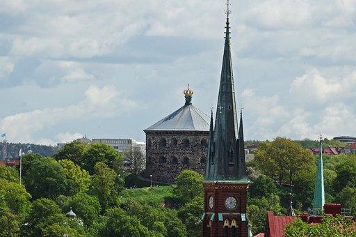 Gothenburg, Church Tower, Skansen Crown, Views