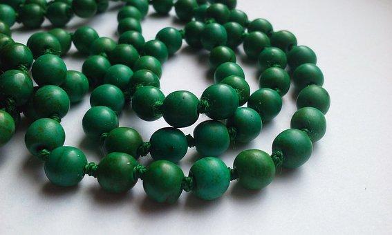 Necklace, Jewelry, Accessory, Green, Dark, String