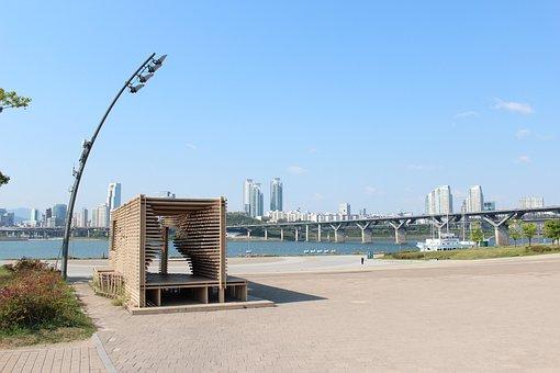 Han River, Hangang Park, Free, Landscape, City, Time