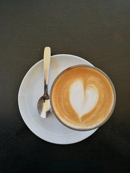 Coffee, Heart, Spoon