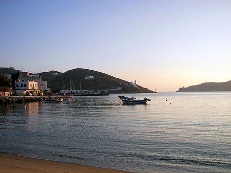 Ios, Port, Cyclades, Greece, Hellas, Chapel