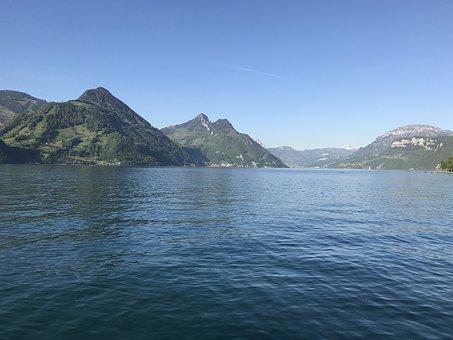 Mountain, Lake, Lake Lucerne Region