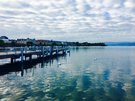 Lake, Switzerland, Fisherman, Landscape, Placed Lake