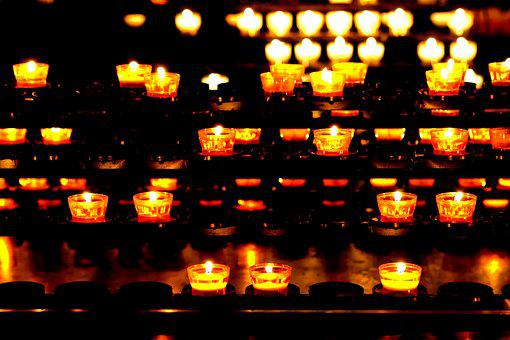 Candles, Lights, Light, Church, Atmospheric, Background
