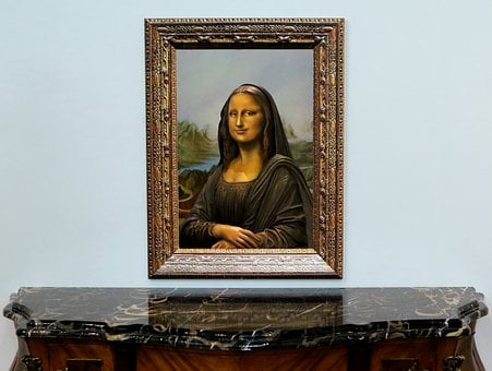 Sculpture, Faux, Statue, Painting, Mona Lisa, Frame