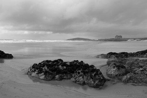 Cornwall, Newquay, Atlantic, Wide, Loneliness, Hotel