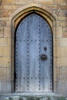 Door, Doorway, Wall, Medieval, Middle Ages, Passage