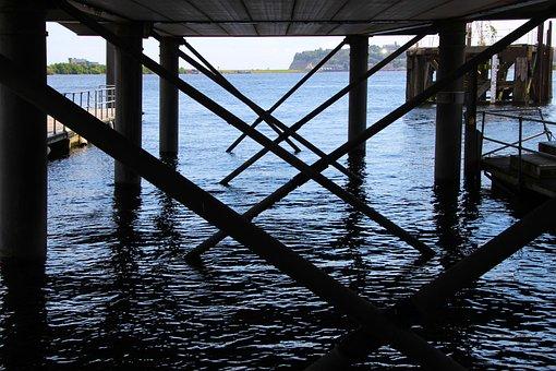 Pier, Bay, Water, Sea, Summer, Vacation, Dock, Coast