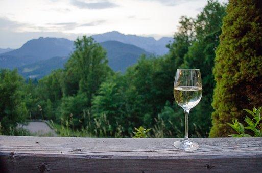 Obersalzberg, Wine, After Work, Panorama, Wine Glass