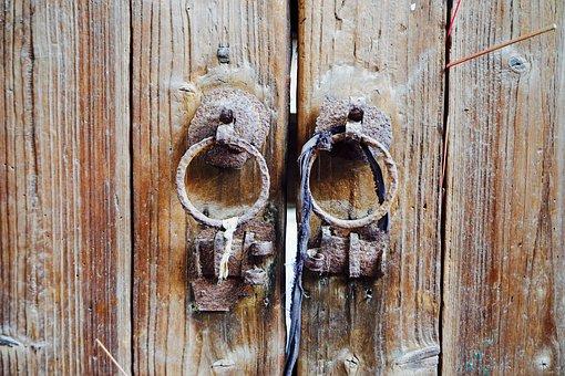 China, Chaozhou, Door, Rusty, Wood