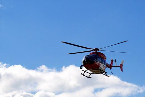 Helicopter, Sky, Fly, Blue, Clouds, Aviation, Air