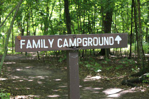 Campground, Camping, Sign, Park, Campsite