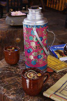 Thermos, Tea, Camping, Journey