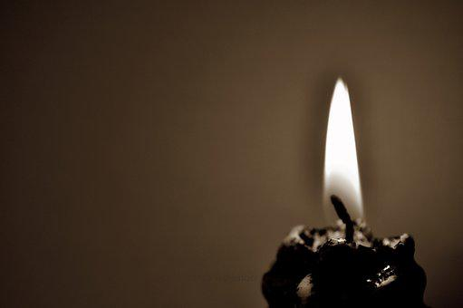 Flame, Candle, Christmas, Light, Sepia, Burning