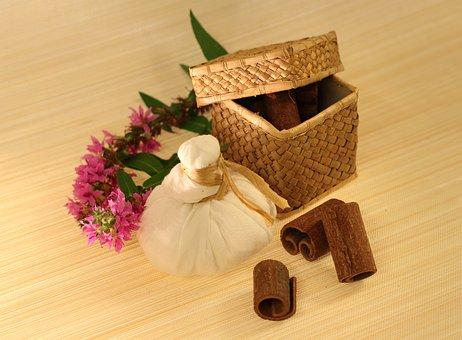 Spices, Herbal Massage, Cinnamon, Flowers, Basket