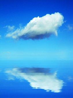 Cloud, Calm Sea, Blue Sky, Ocean, Water, Serene