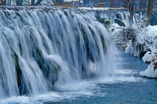 Cascade, Ice, Water, Cold, Winter, Stream, Nature