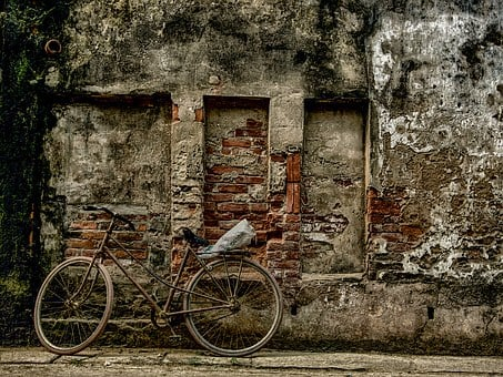 Bike, Wall, Airport, Country Scene, Countryside