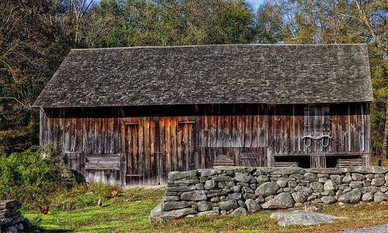 Barn, Connecticut, Scenic, Farm, Rural, Countryside
