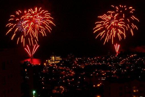Fireworks, Firecrackers, Lights, Lighting, Bursting