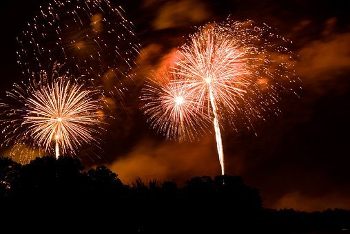 Fireworks, Rockets, Fire, Ignite, Explosion, Colorful
